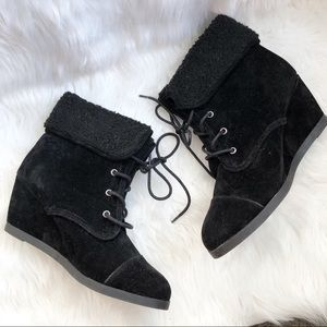 Madden Girl • Black Faux Suede Bootie
